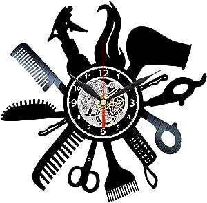 Hairdresser Vinyl Clock - Record Wall Art - Hair Salon Decor - Barber Gifts