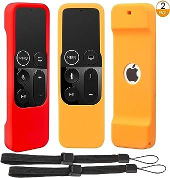 2 Unidades] Funda Protectora Antideslizante Compatible con Apple TV 4K 4ta 5ª generación Siri mandos a Distancia: Amazon.es: Electrónica