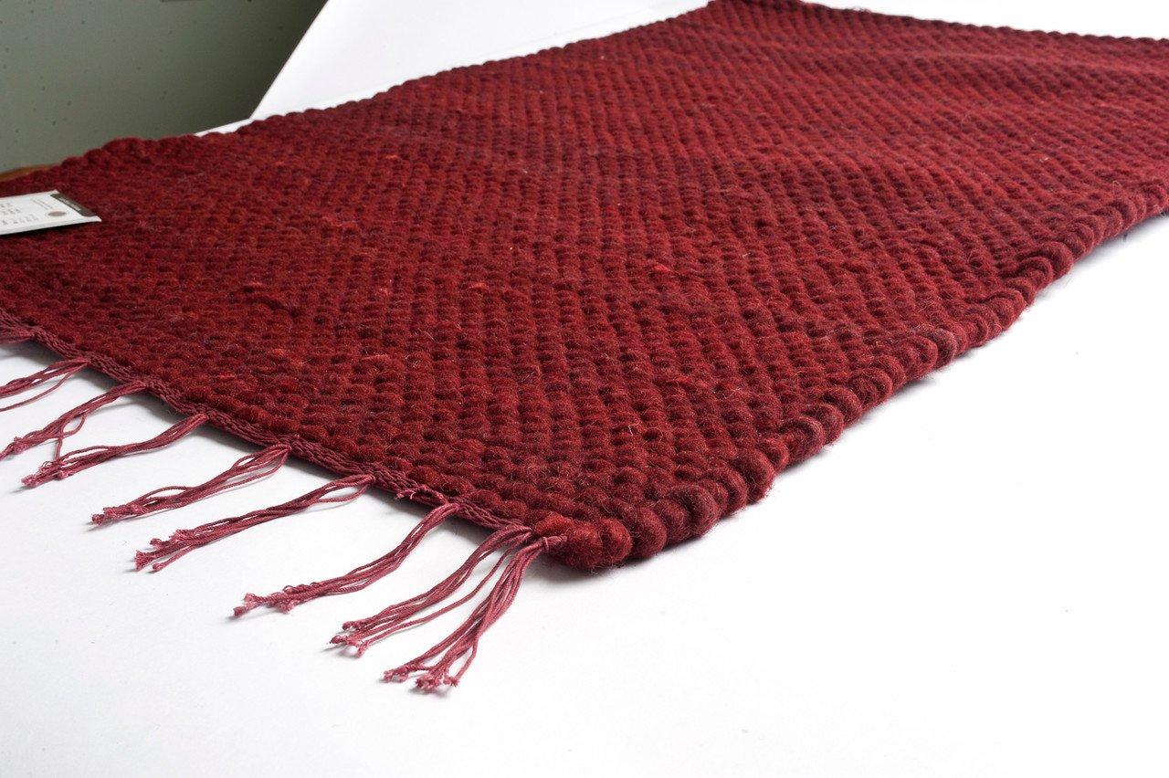 amazoncom prairie rugs woolcotton 2x3 wool dhurrie rug ruby kitchen u0026 dining