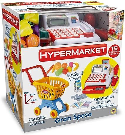 TEOREMA 64492 – Mini Market con Carro Compra, grabadora de Caja y Accesorios: Amazon.es: Juguetes y juegos