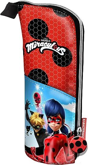 Lady Bug Miraculous Ladybug Estuche portatodo Vertical, Color Rojo, 21 cm (Karactermanía 33655): Amazon.es: Juguetes y juegos