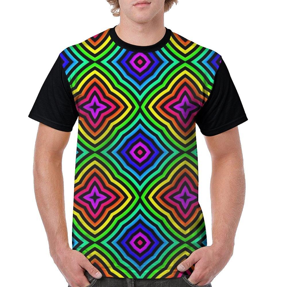 Neon Colors Men's Raglan Short Sleeve Tops T-Shirt Casual Undershirts Baseball Tees