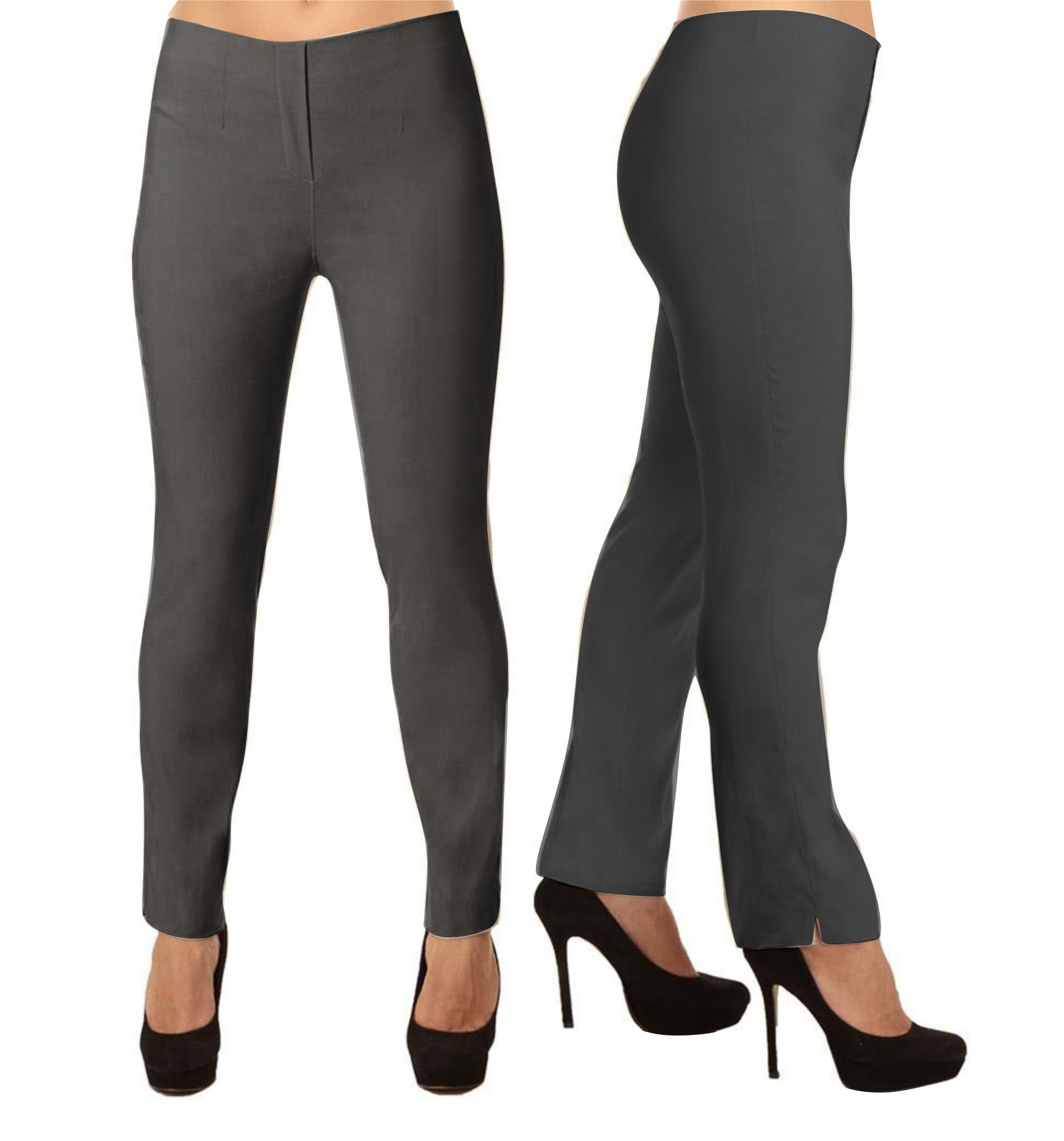 Lior Paris LIZE a Classic Fit Straight Pant For EveryBody. (6, Charcoal)