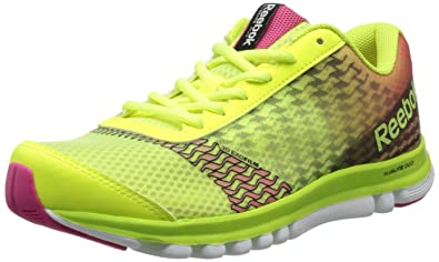 Reebok Women's Sublite Duo Instinct Running Shoe,Neon YellowWhiteBlackPunch