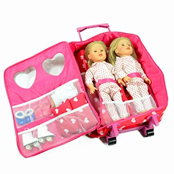 Doll Double Travel Trolley With Sleeping Bag