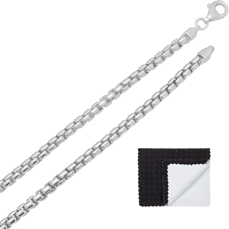 14k White Gold 0.9mm Polished Box Chain Necklace Bracelet Anklet 7-30