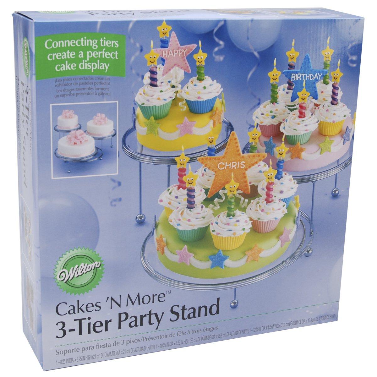 Wilton Cakes 'N More 3-Tier Cake Stand, Chrome