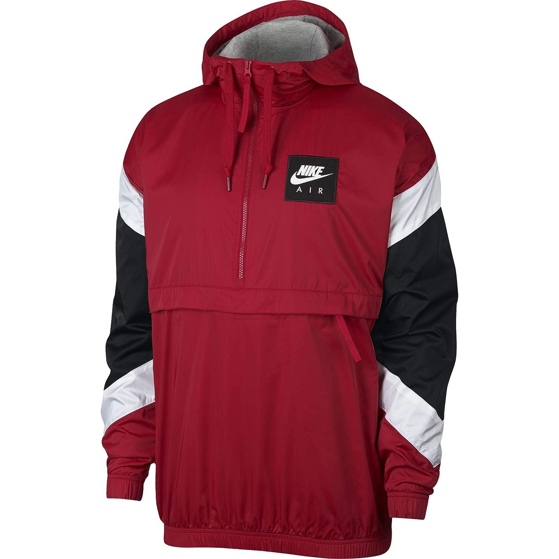 Nike M NSW Air Jkt HD Wvn Chaqueta, Hombre, Rojo/Negro/Blanco (Gym), 2XL
