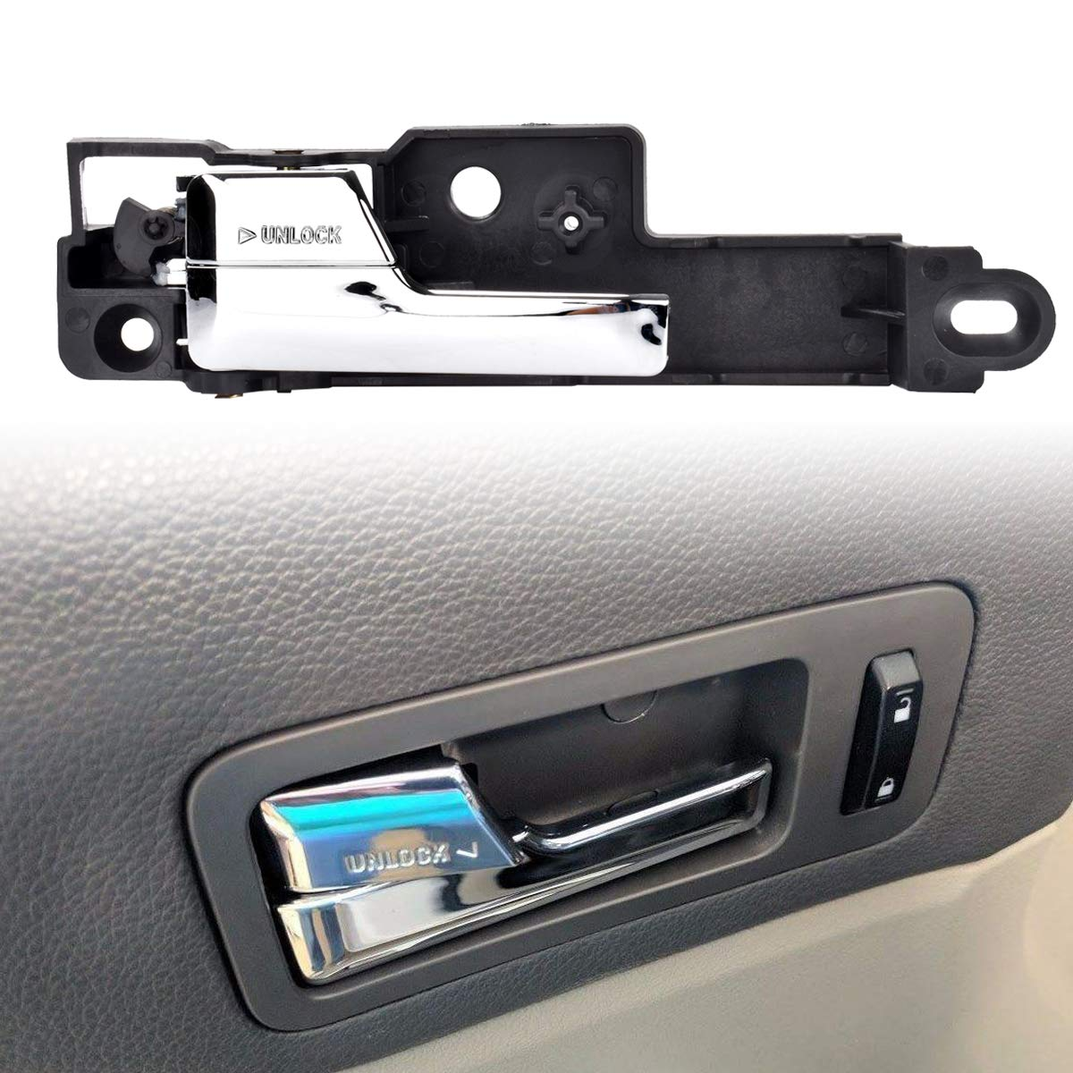 6E5Z5422600AA FAERSI Inside Interior Door Handle Front Driver /& Passenger Side for 2006 2007 2008 2009 2010 2011 2012 Ford Fusion 06-11 Mercury Milan 6E5Z5422601A 07-11 Lincoln MKZ /& 2006 Zephyr