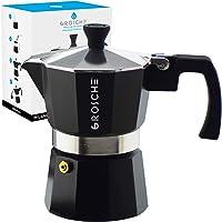 GROSCHE Milano Stovetop Espresso Maker Moka pot 1 Cup - 1.5 fl oz, Black, Moka Expresso Coffee Maker Stove top coffee…
