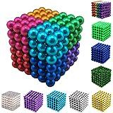 Yiteng  強力磁石 立体パズル おもちゃ 魔方 減圧 パズル マグネットボール ギフト プレゼント 5mm 216個/セット (8色)
