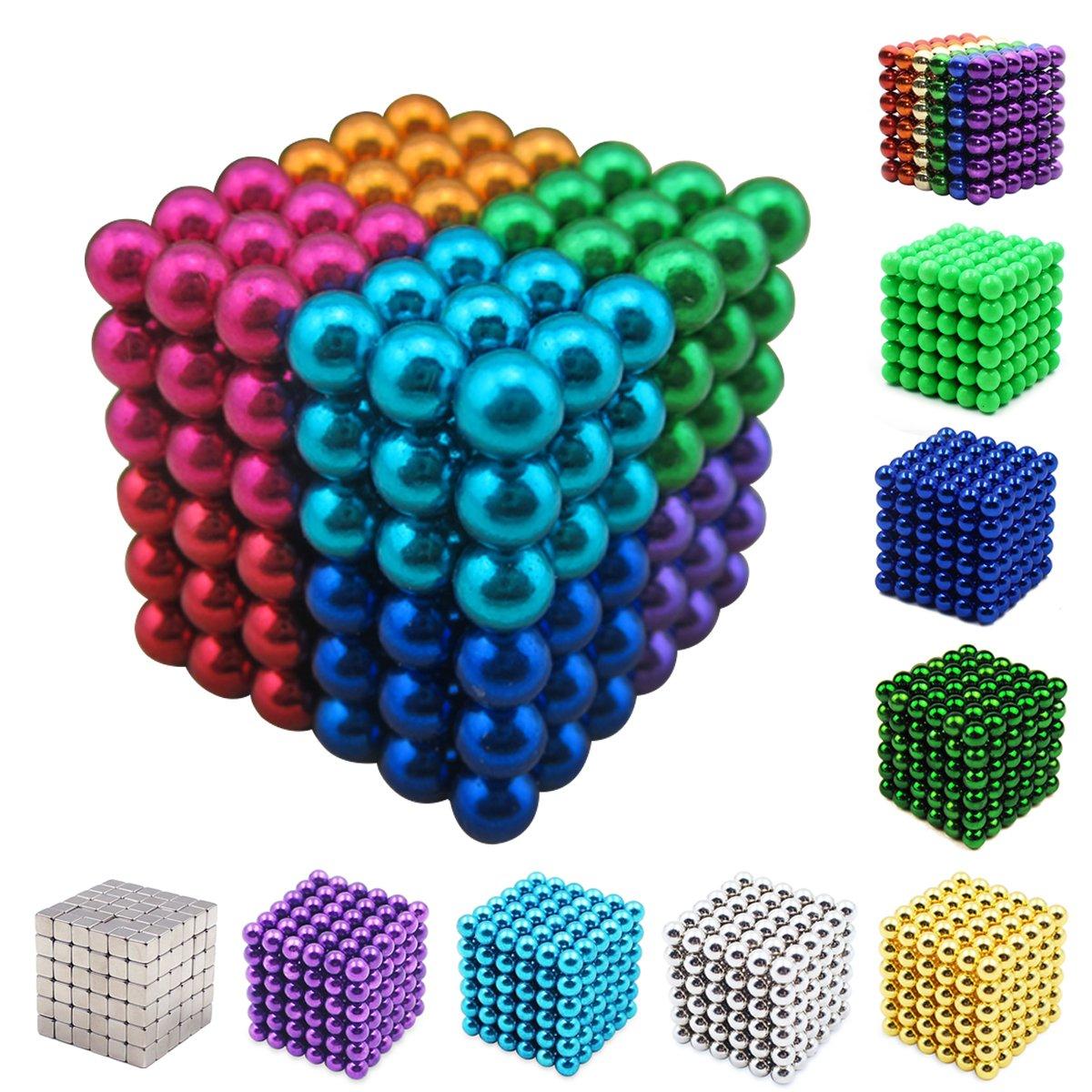 Yiteng 強力磁石立体パズル マグネットボール 5mm 216個/セット(8色)