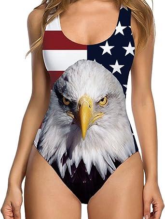 chicolife Mujeres bañador Bikini de Impresion 3D Falso de una ...