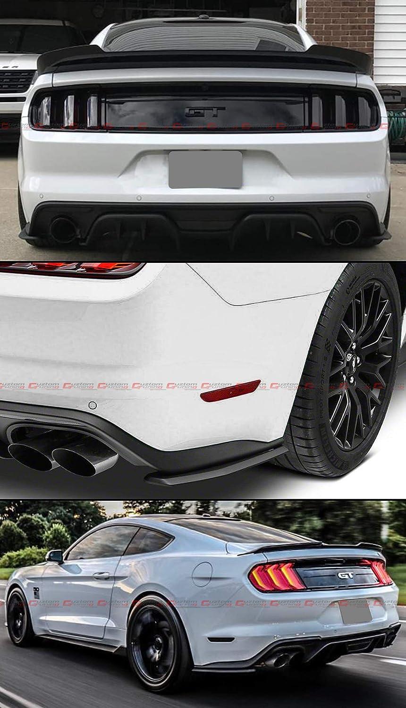 For 2015-2019 Ford Mustang Rear Bumper Corner Valance Side Spat Quarter Splitter