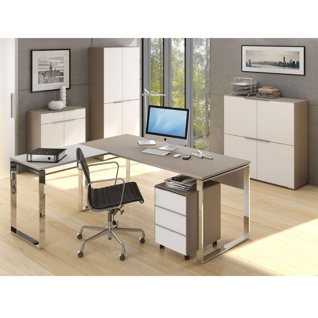 MAJA Büromöbel Komplettset Komplettes Arbeitszimmer YAS in Glas sand ...