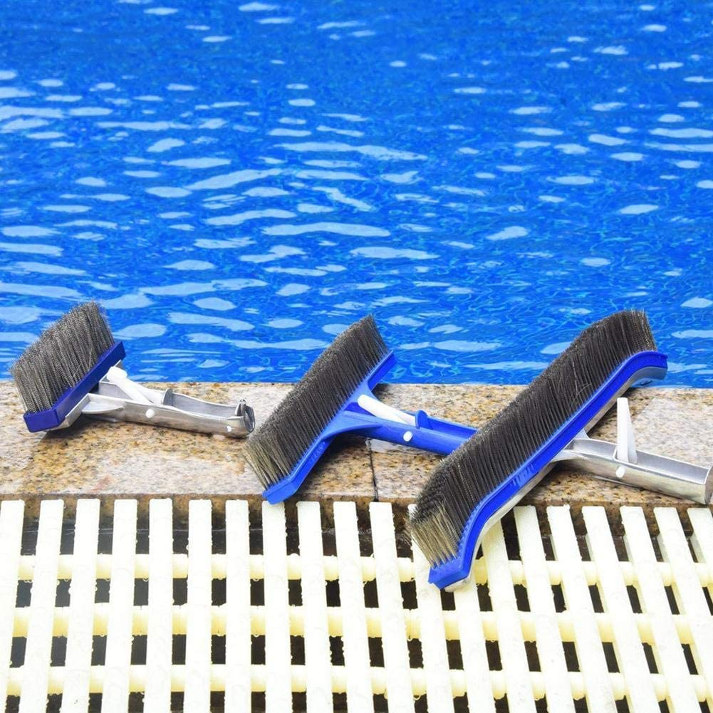 asterisknewly Cepillo De Piscina De 5 Pulgadas Duradero Cepillo De Limpieza De Piscina De Servicio Pesado Cerdas De Acero Inoxidable para SPA//Tubo//Pared//Baldosa//Piso para Eliminar Manchas Rebeldes