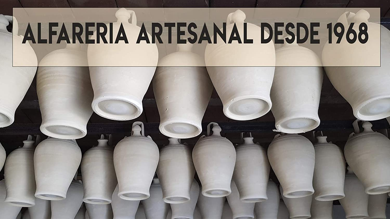 Botijo de Barro - 100% Artesanal - 3,25 L: Amazon.es: Hogar