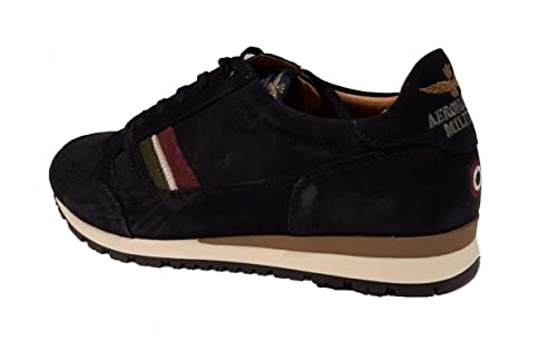 3b017c61bc Aeronautica Militare Scarpe Sneakers SC146L Blu Navy, Uomo, Felpa ...