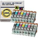 HI-VISION Compatible CLI-42 CLI42 16 pcs set Ink Tank replacement for Professional inkjet PIXMA PRO-100 Black,Cyan,Yellow,Magenta,Photo Cyan,Photo Magenta,Gray,Light Gray 6384B007 Multi colors