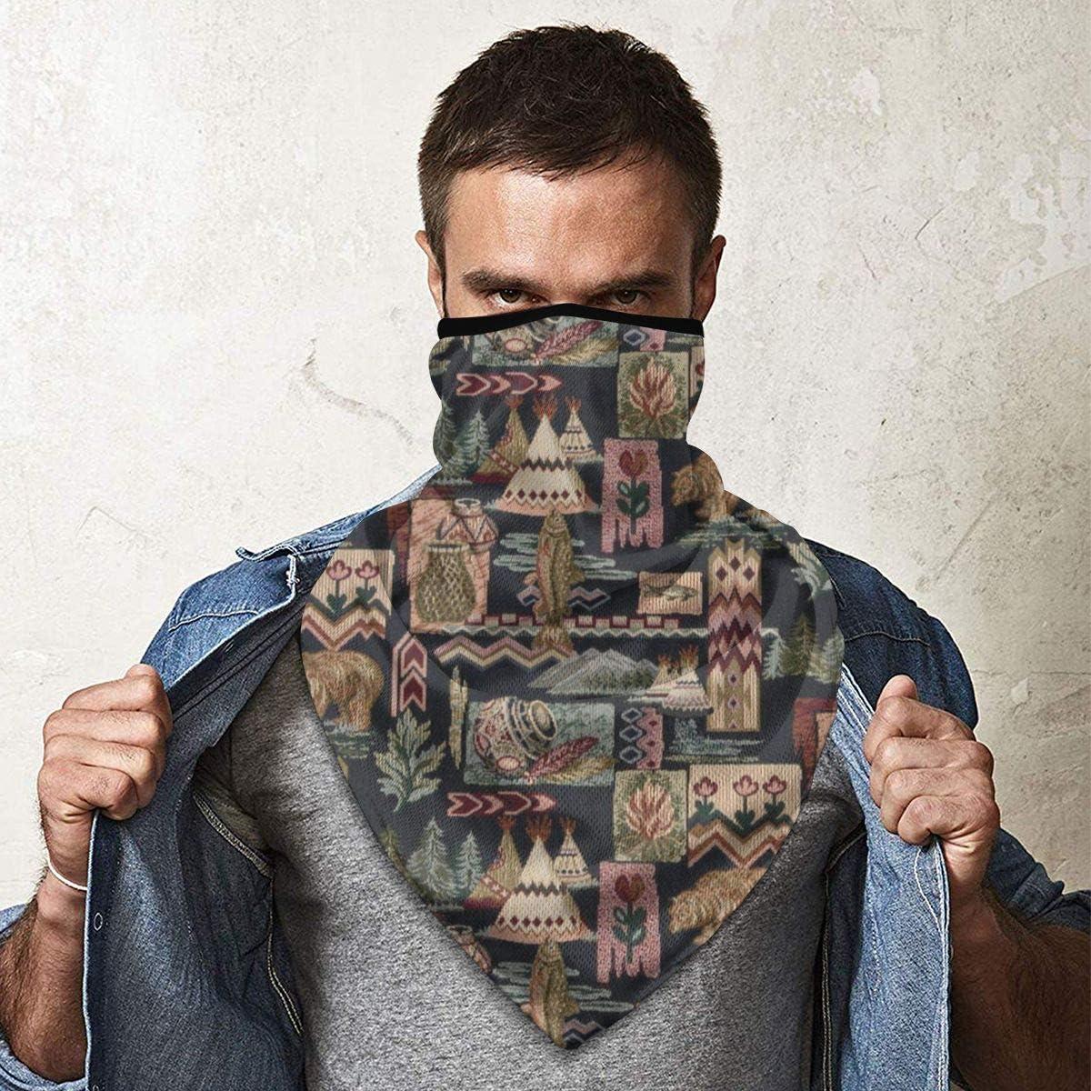 protecci/ón de la boca polaina pasamonta/ñas bufanda para la cara QsuNa Native American Tiendas de oso a prueba de viento