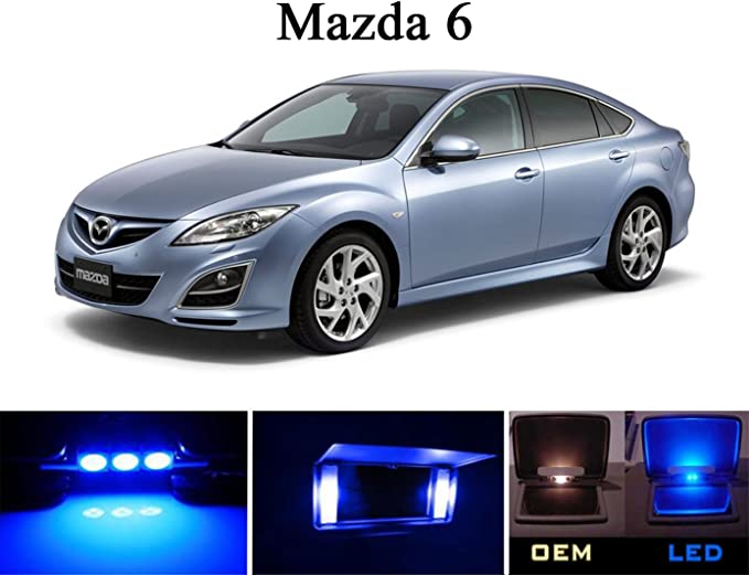 Clear Xenon Uprated Main Beam Bulbs Mazda 6 H1 LEDs