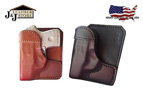 J&J Custom Fit SPRINGFIELD 911 Formed Wallet Style Premium Leather  Back/Cargo Pocket Holster