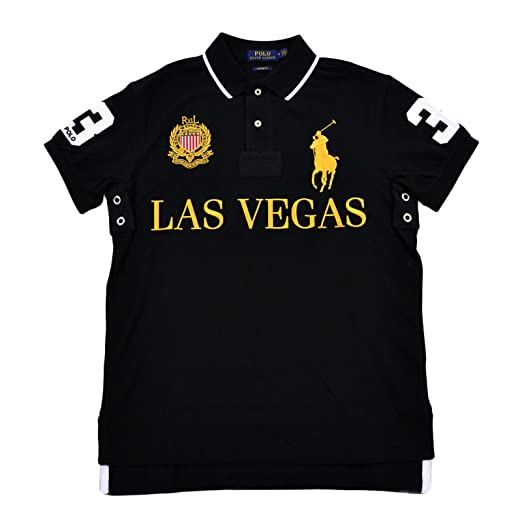 69b3b567 ... canada polo ralph lauren mens big pony city custom fit mesh polo shirt  small black 89c86