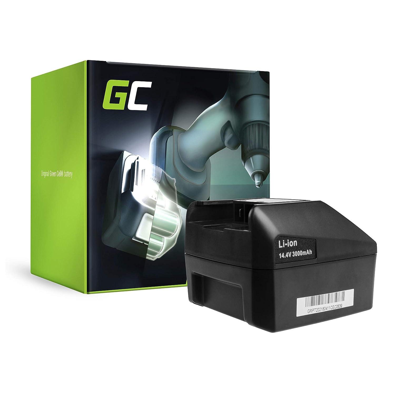 verde Cell® Utensili Elettrici Batteria per FEIN ASCT 14 M (Li-Ion celle 3 Ah 14.4V)