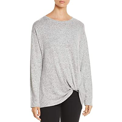 A+A Collection Womens Twist Front Jewel Neck Sweater Gray XL: Clothing