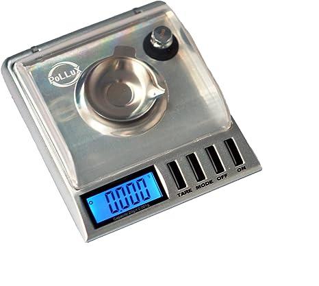 Pólux GEM20 Báscula 20 x 0,001 g Digital de alta precisión con funda, pinzas,