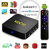 Android TV Box, 4GB+32GB Super-seller Store Smart 4K TV Box Android 7.1 RK3328 Octa Cora CPU Wifi Set Top Boxes 3D 4K Ultra HD TV (MX10 4+32GB)