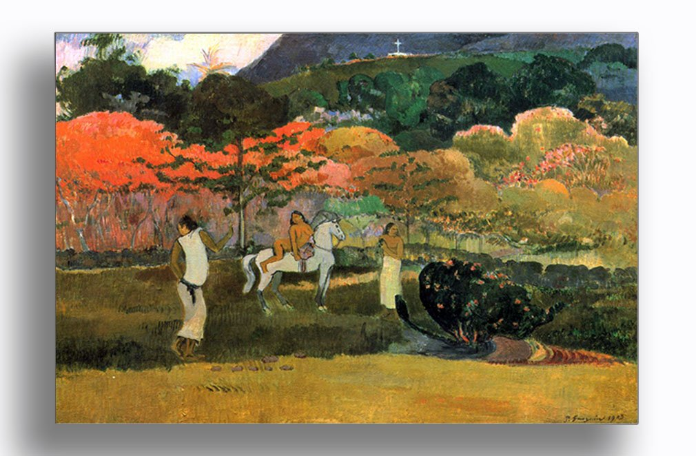 Amazon.com  Women and Mold (Gauguin) Aluminum Metal Photo Print Wall Art  Wall Décor - 24