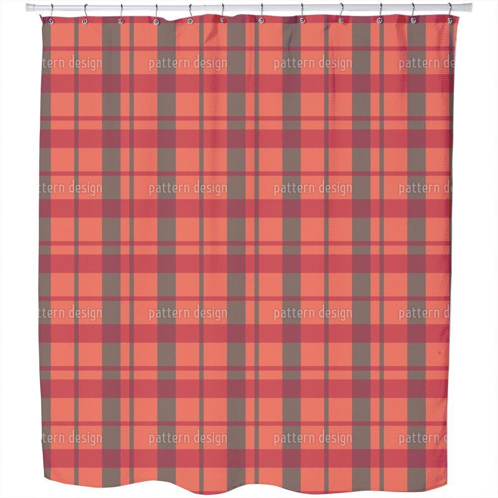 Amazon Carolina Tartan Shower Curtain Large Waterproof Luxurious Bathroom Design Woven Fabric Home Kitchen