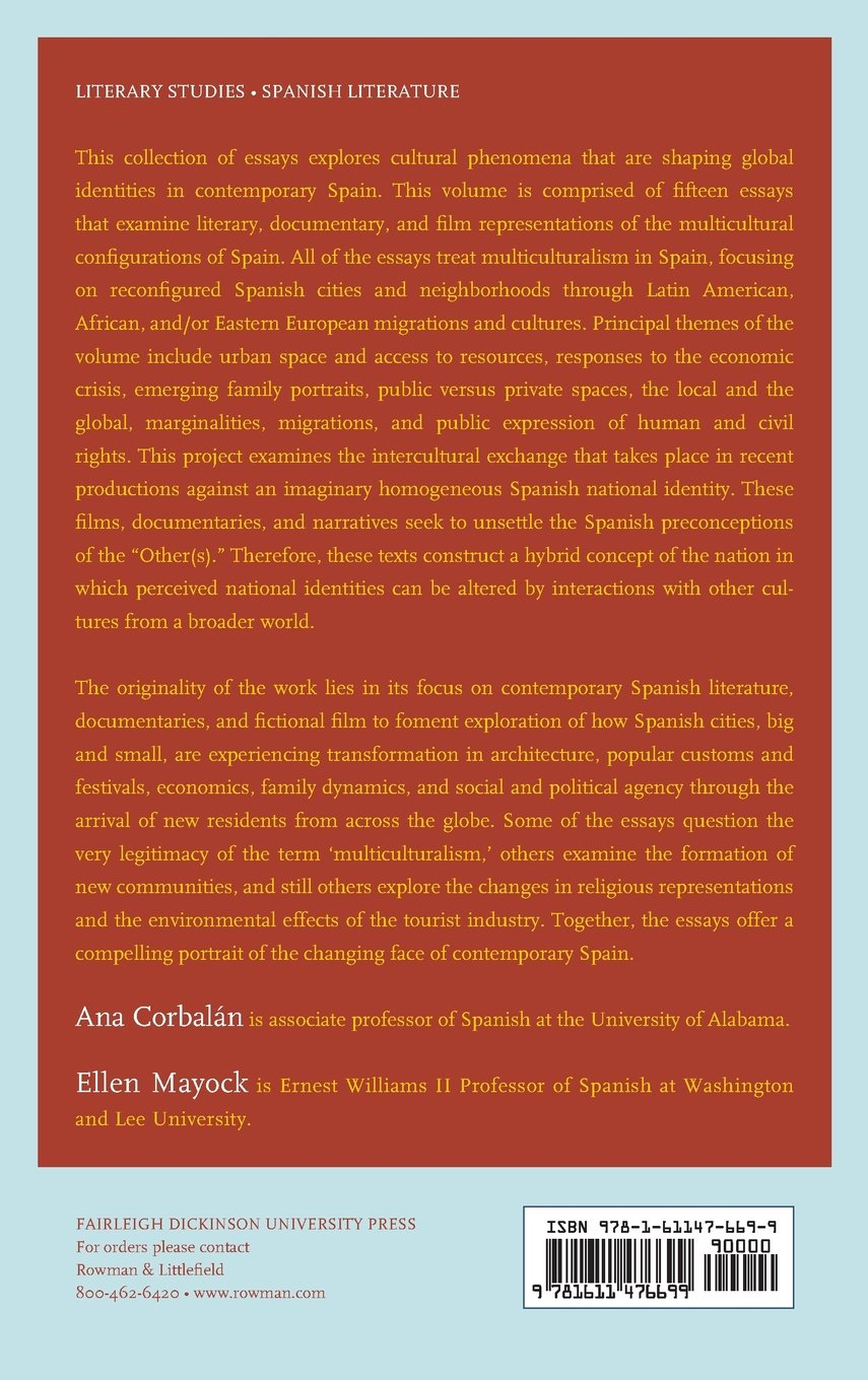 amazon com toward a multicultural configuration of spain local amazon com toward a multicultural configuration of spain local cities global spaces 9781611476699 ana corbalán ellen ock alicia castillo