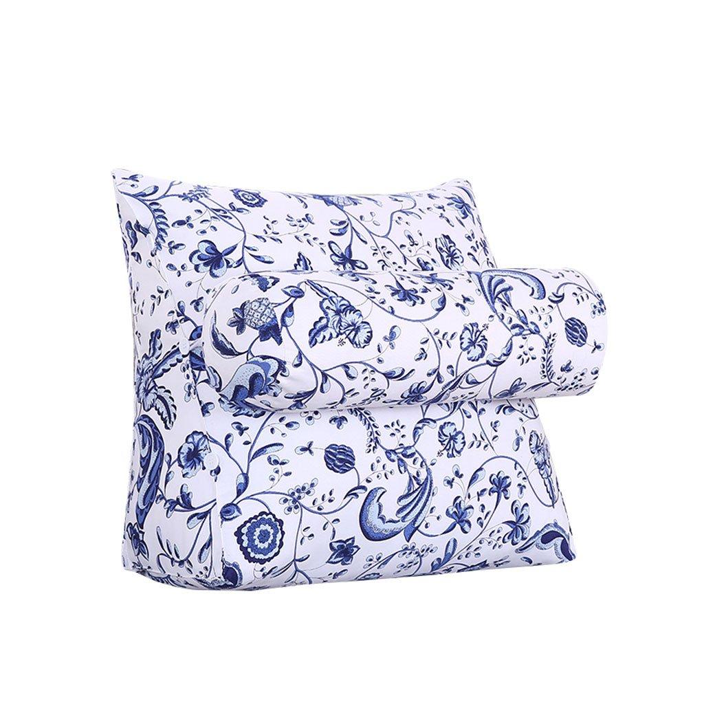 Triangular Headboard Pillow With Headrest Sofa Bed Headrest Bay Window Cushion Back Office Neck Guard Lumbar Pillow Backrest Waist Pads (Color : A, Size : 60cm20cm50cm)