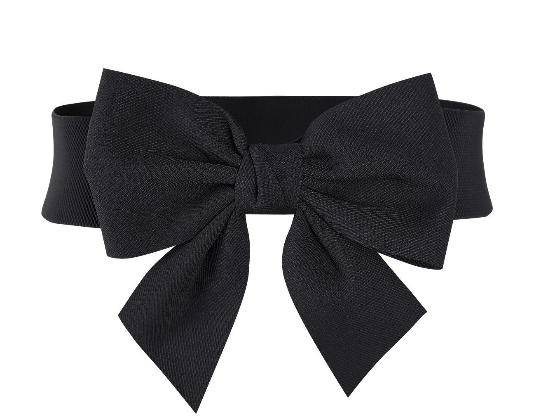 MUXXN Women's Vintage Bowknot Wide Elastic Stretchy Cinch Belt