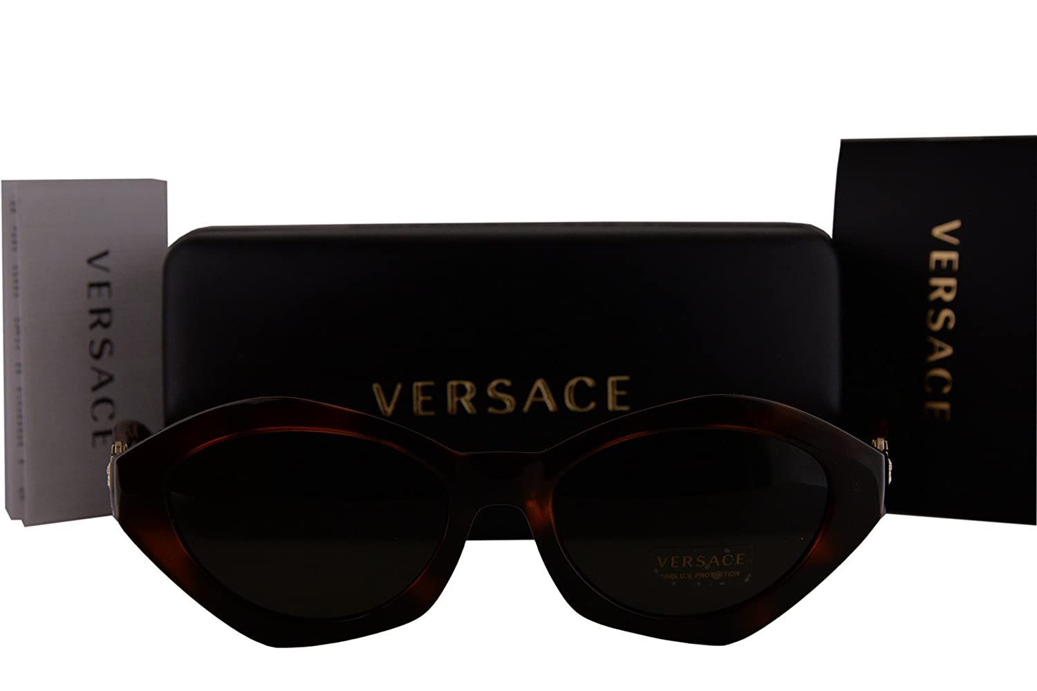 0368ce6ae89 Amazon.com  Versace VE4334 Sunglasses Havana w Green Lens 511971 VE 4334   Sports   Outdoors
