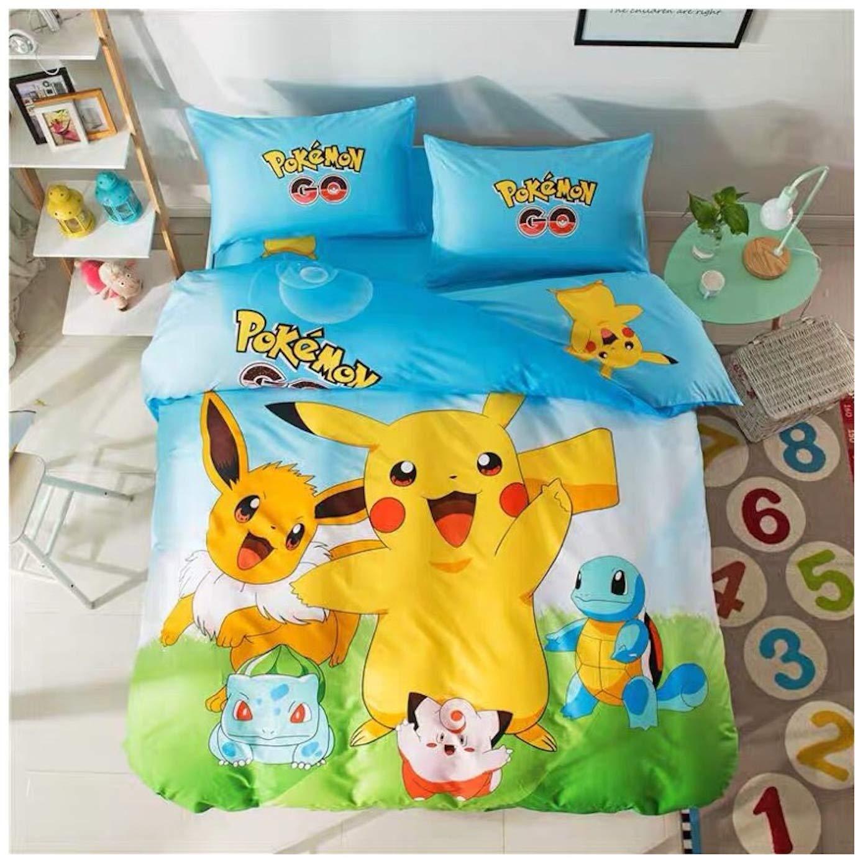 Amazon.com: Con juego de sábanas Pikachu para cama ...