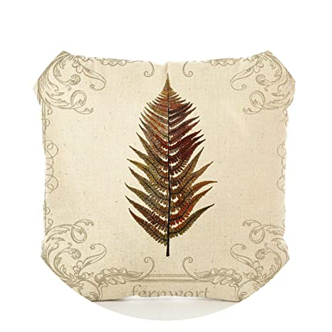 Amazon.com: Leaves - Cojín estampado para sofá, planta ...