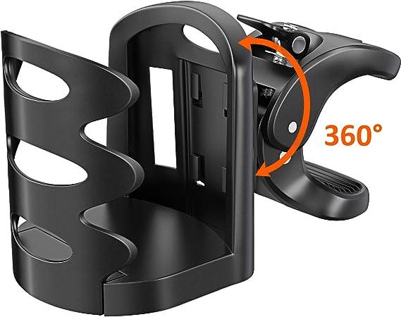 360 Degr/és de Rotation sans Vis Support de V/élo pour La Coupe Gourde Biberons V/élos Fit Poussette et Fauteuil Roulant Noir VTT Nrpfell Bidon V/élo