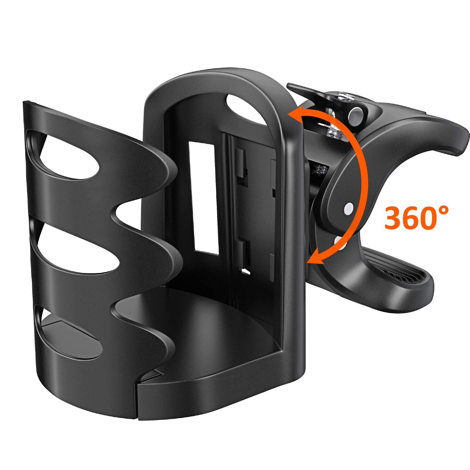 Stroller Cup Holder, Cocoda 360° Rotatable Universal Bike Bottle Holder Antislip Adjustable Water Drink Cage for Bike, Baby Stroller, Pushchair, Bicycle, Wheelchair, Motorcycle SCH-1