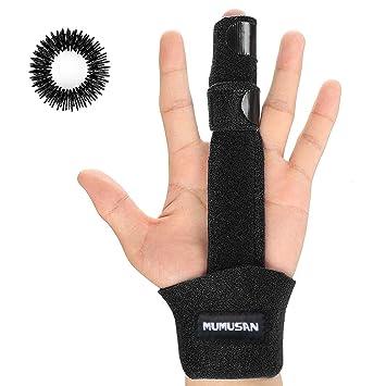 MUMUSAN Finger Extension Splint Brace Support Protector Belt Bandage for  Trigger Finger, Acupressure