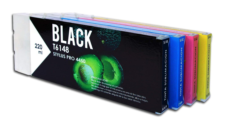 Cartucho Sublimacion Reciclado Epson T6148 Negro Matte de ...