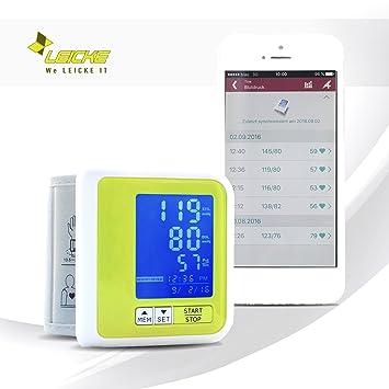 Sharon Tensiómetro de muñeca Bluetooth Integrado | Batería Recargable por Cable Micro USB | Almacena 60