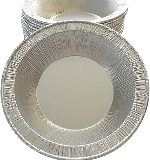 Small Mini Aluminum Foil Disposable Baking Tart Pans 3 3//8 inches Pie Tins for Hot and Cold Foods Made in USA Pack of 100