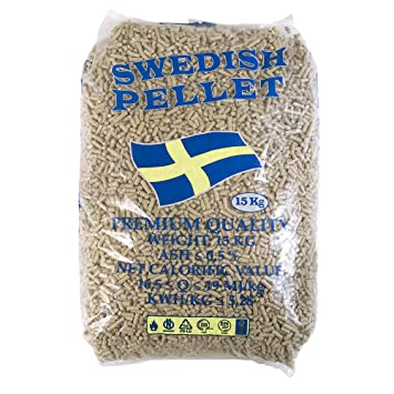 X10 Bolsas de pellets 100% abeto Certificado 15 kg para estufa Alta Calidad sueca: Amazon.es: Hogar