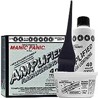 Manic Panic Flash Lightning Hair Bleach Kit - 40 Volume Cream Developer - Hair Lightener Kit for Light, Medium Or Dark Brown & Black Hair Color - Hair Bleach Powder Lifts up to 7 Levels of Lightening