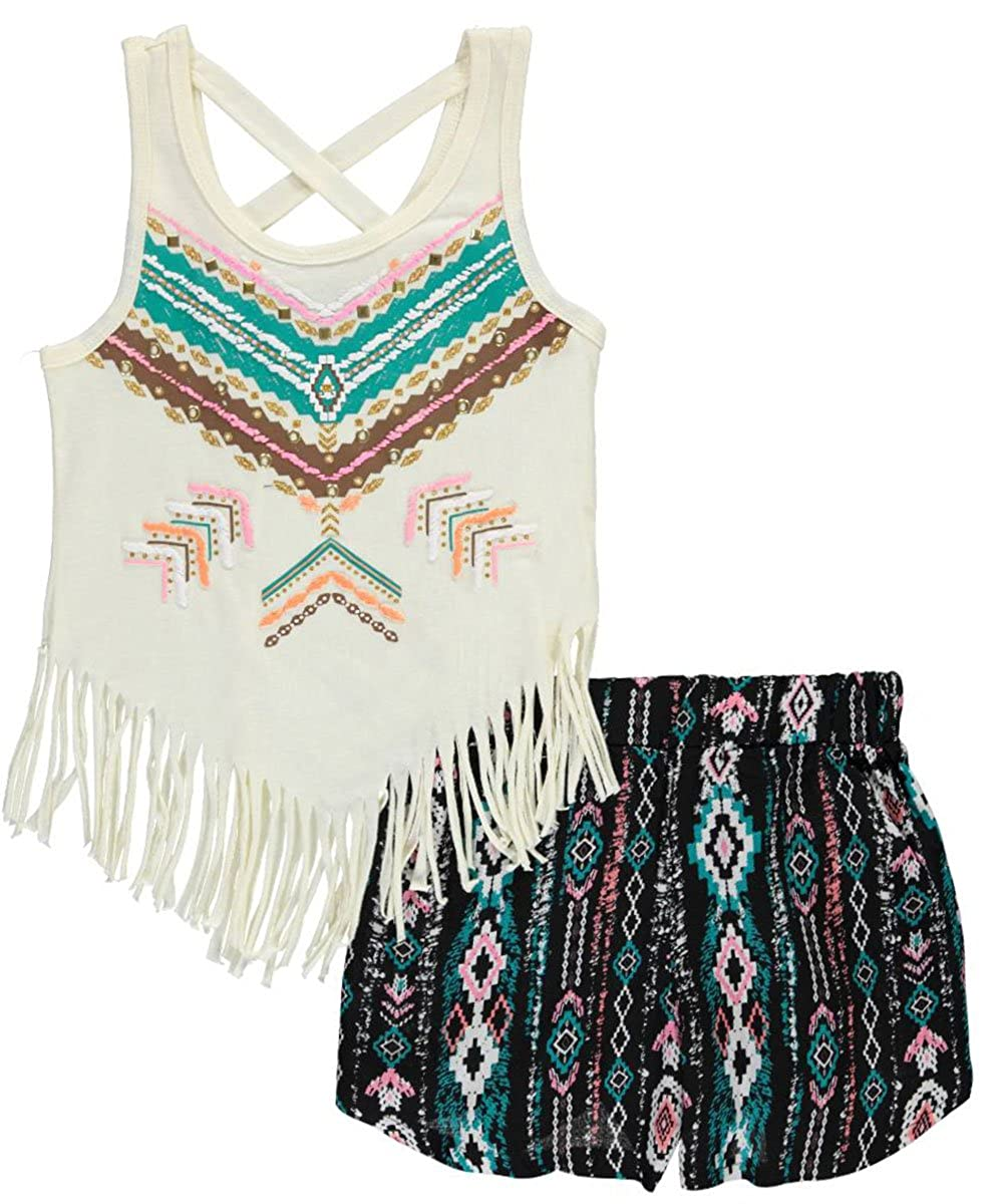 RMLA Big Girls' Grommet Fringe 2-Piece Outfit 7