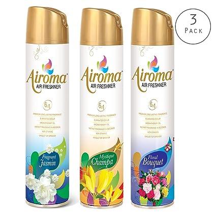 Airoma Air Freshener Pack Of Long Lasting Fragrance Odor - Bathroom odor eliminator spray