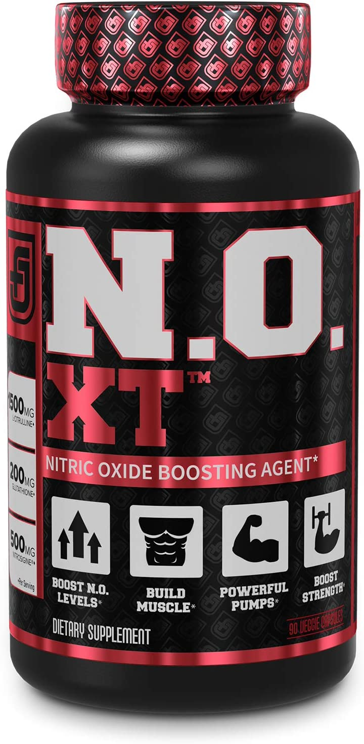 N.O. XT Nitric Oxide Supplement With Nitrosigine L Arginine & L Citrulline for Muscle Growth, Pumps, Vascularity, & Energy - Extra Strength Pre Workout N.O. Booster & Muscle Builder - 90 Veggie Pills: Health & Personal Care
